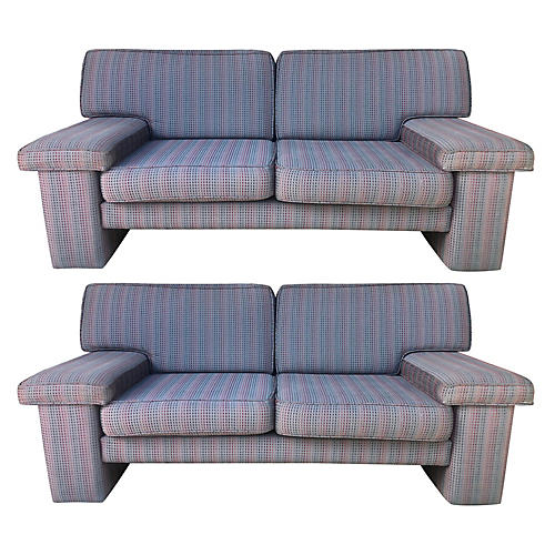 Italian Sofas w/ Missoni Fabric, S/2
