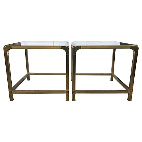 Solid Brass Side Tables By Mastercraft