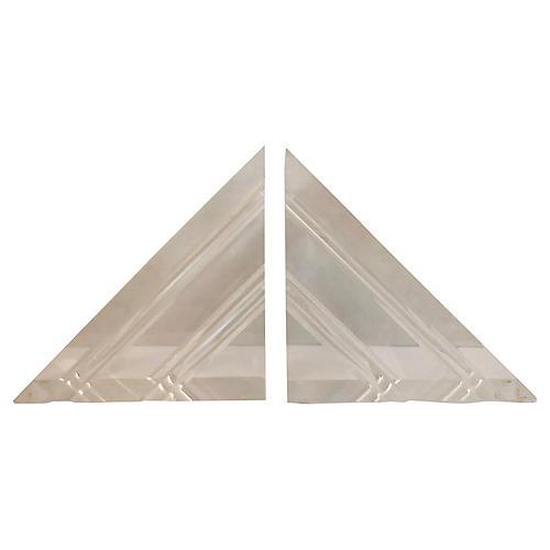 Italian Triangular Bookends, S/2