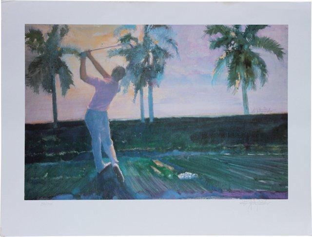 Golf Print by Walt Spitzmiller