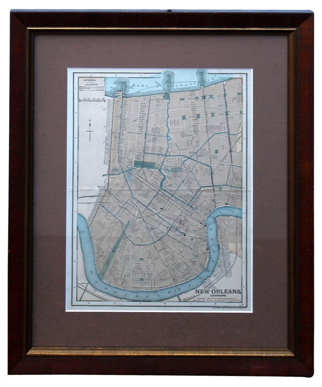 New Orleans Dodd & Mead Map