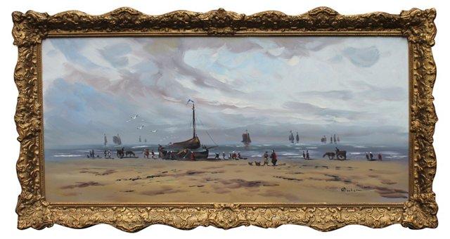 Arrival of Fishermen Fleet by H. Poeder