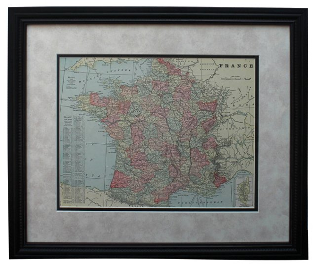 Map of France by Watson