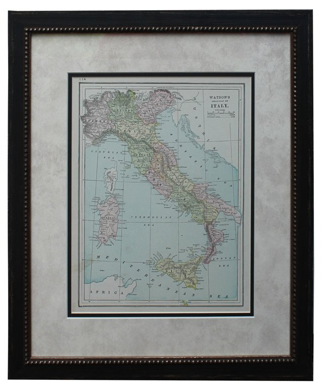 Map of Italy by W. Watson
