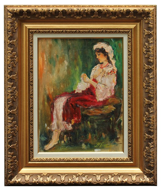 Woman on Bench by A. Haps