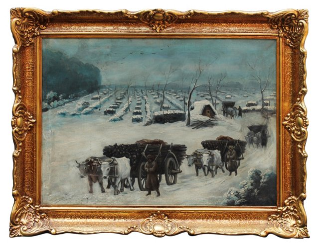 Winter Scene by S. Esayiev