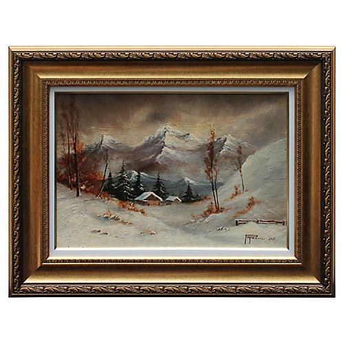 Winter Scene by M. Popovici
