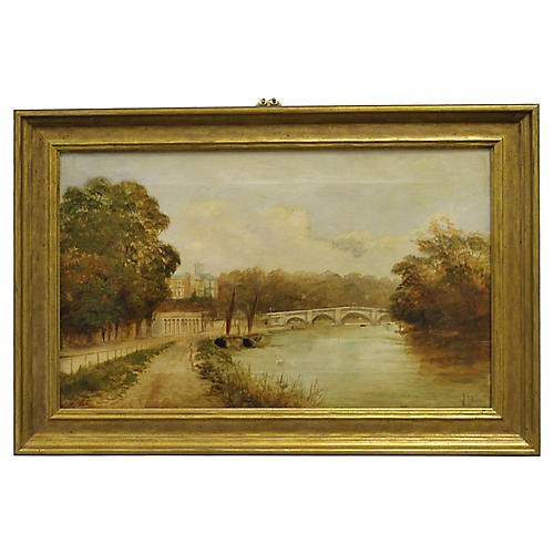 Bridge Over Thames by J. H. Lewis