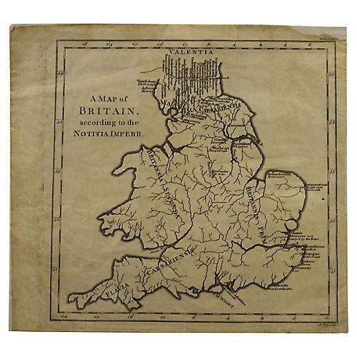 18th-C. Map of England