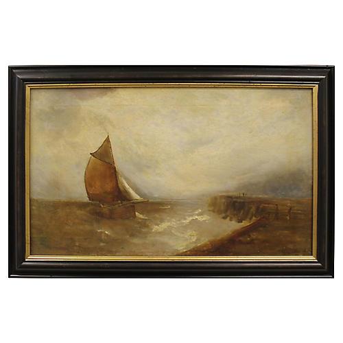 Fishing Boat by Gustave de Breanski