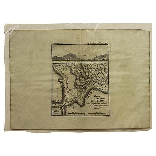 Antique Map of Delphi