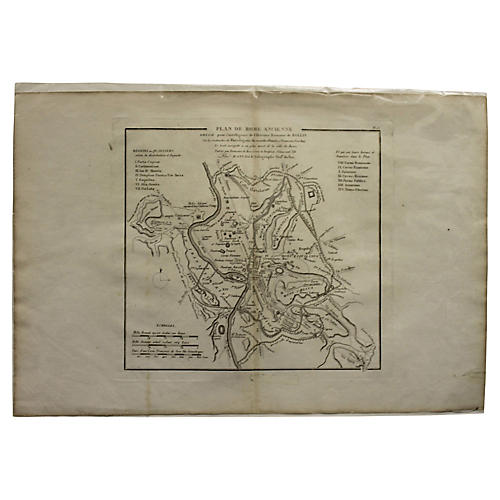 Antique Map of Ancient Rome
