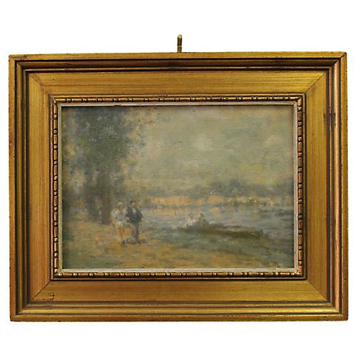 Impressionist oil by W. Mason