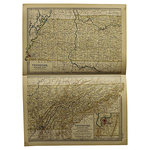 Antique Map of Tennessee