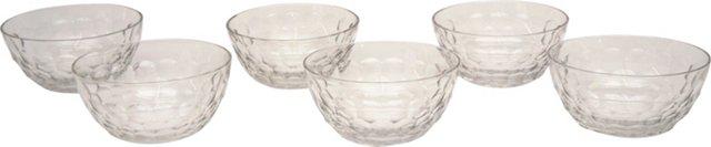 Tiffin Crystal Dessert Bowls, S/6