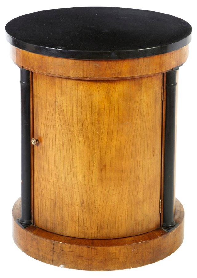 Biedermeier-Style Drum Side Table