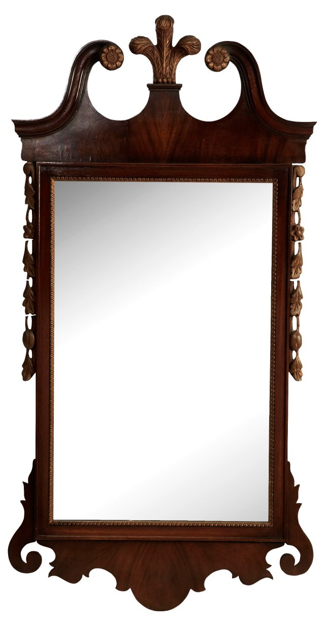 Mahogany Chippendale-Style Mirror