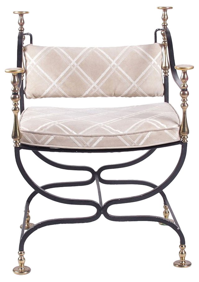Savonarola-Style  Armchair