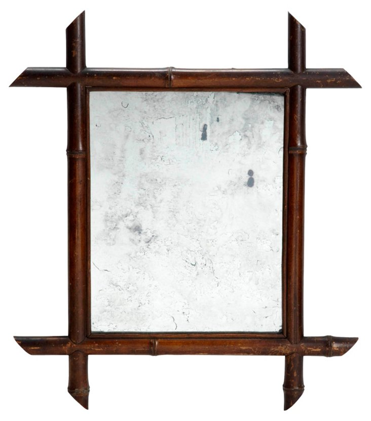Bamboo-Framed Mirror