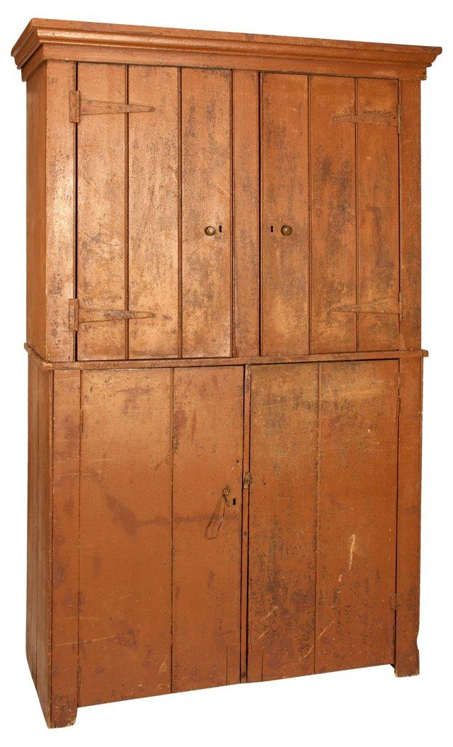 19th-C. English Cupboard