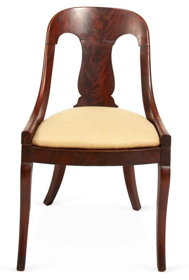19th-C. Empire-Style Side   Chair