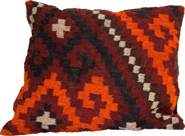 Red & Orange Kilim Pillow - R