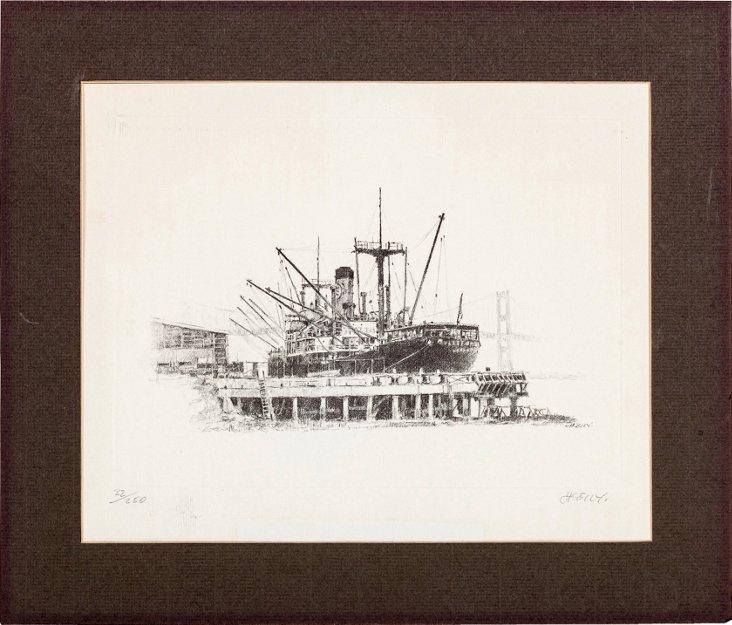 Ship Lithograph