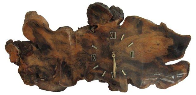 Burl Wood Wall Clock