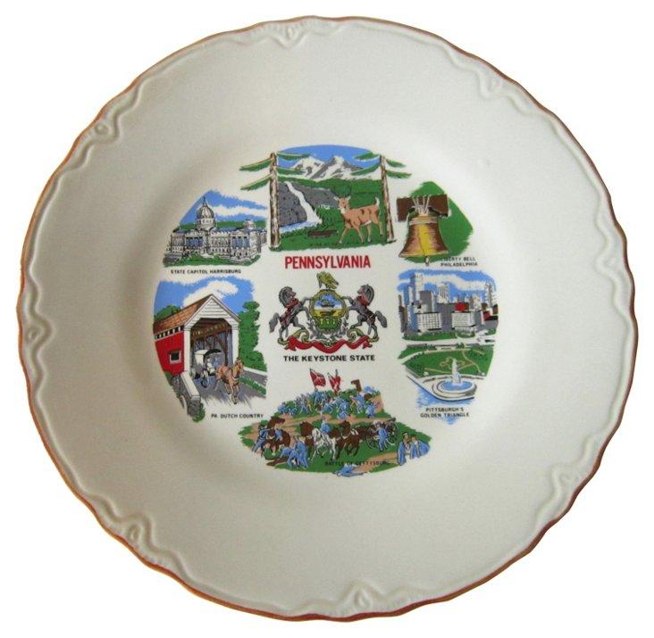 Pennsylvania Souvenir Plate