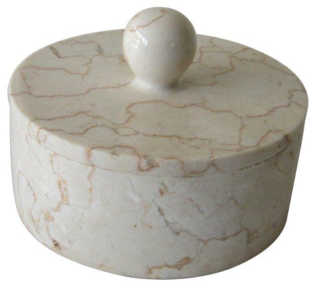 Round Marble Trinket Box