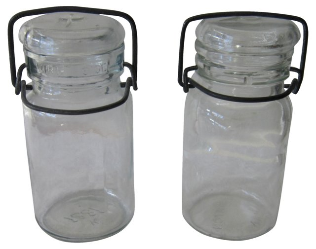 Canning Jars, Pair