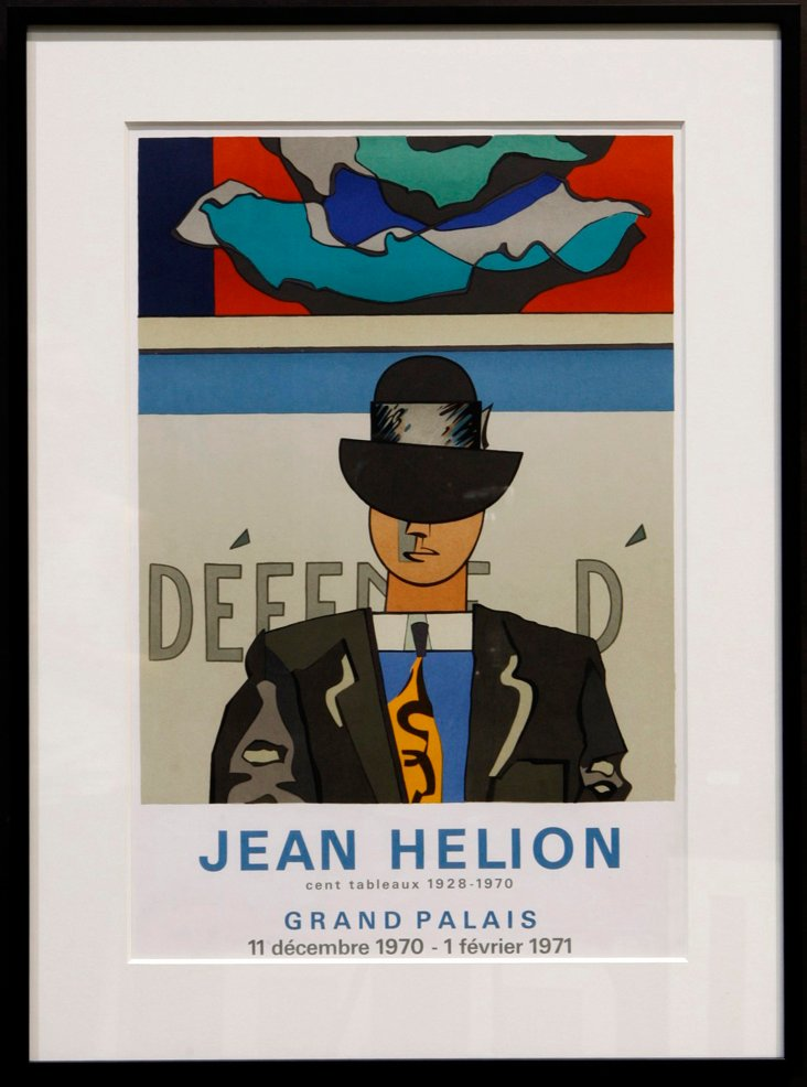 Framed Jean Helion Exhibition Poster