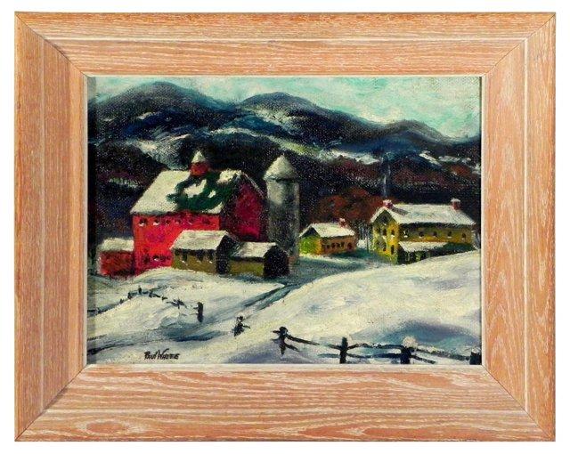 Winter Landscape w/ Barn