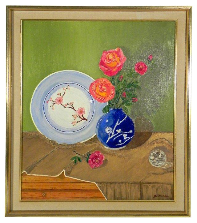 Still Life w/ Vase of Flowers