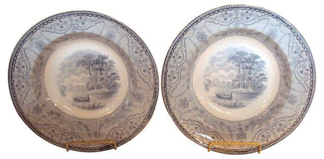 Copeland Spode Bowls, C. 1857, Pair