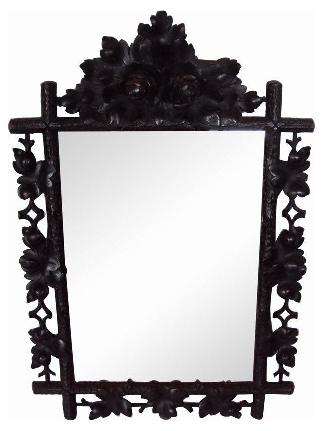 Black Forest Pinecone Mirror