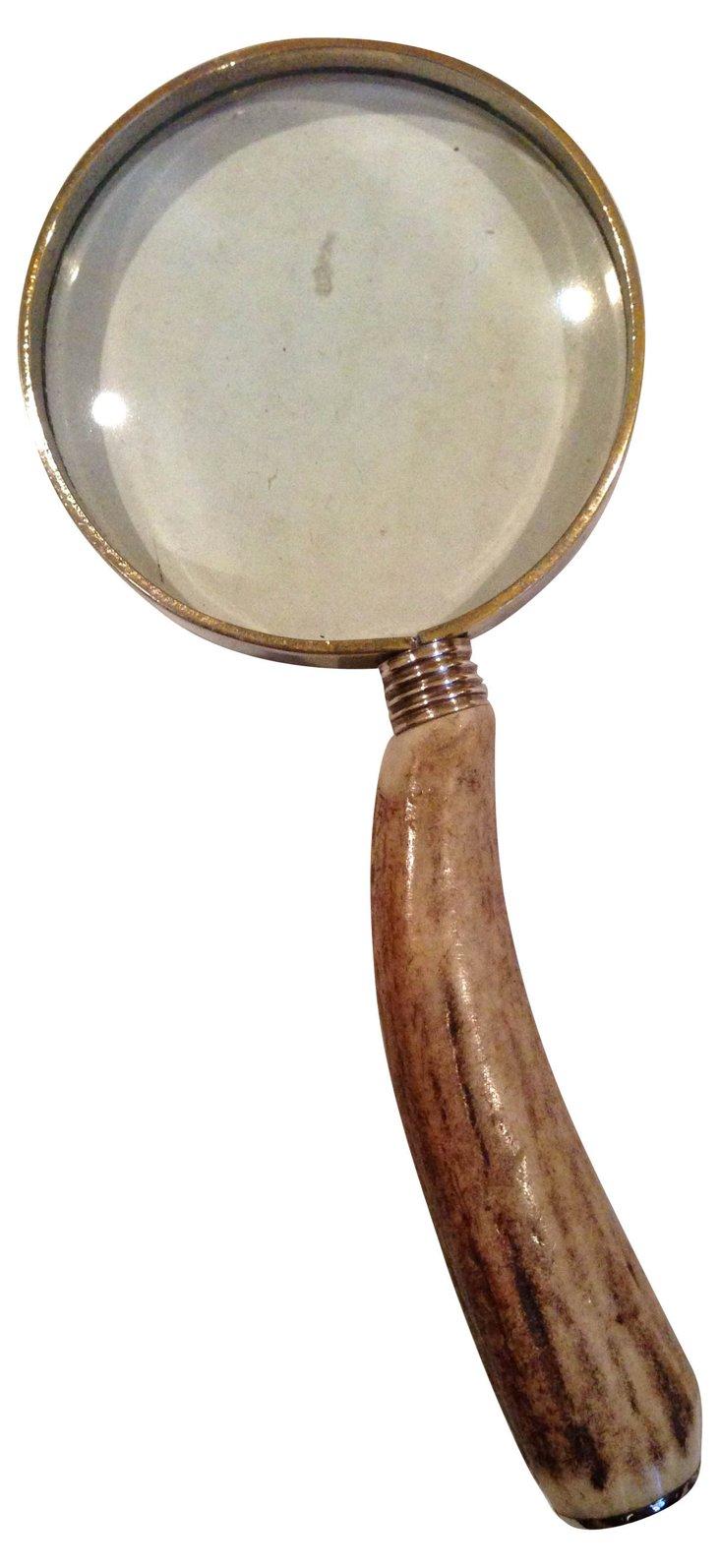 English Antler Magnifying  Glass