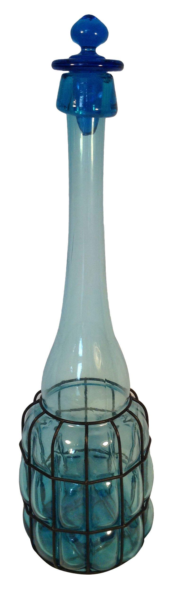 French Blue Bottle w/ Stopper