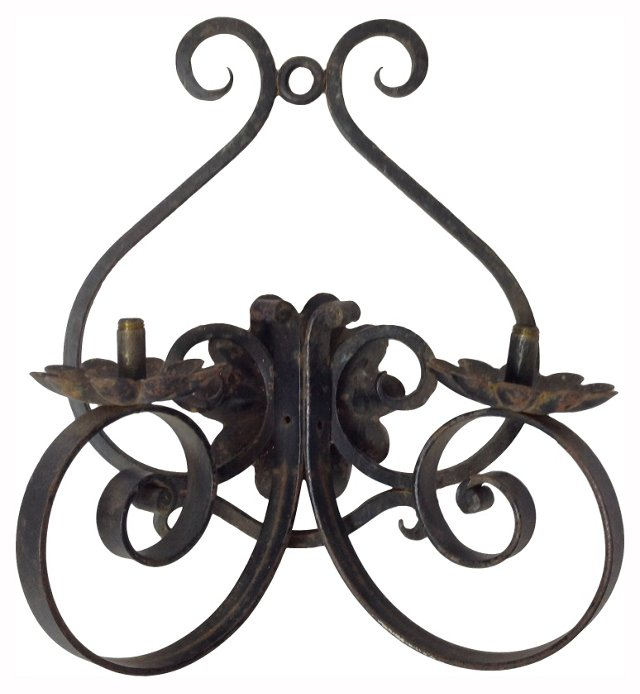 French Iron Sconce