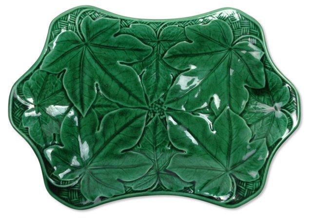 Wedgwood Majolica Green Platter