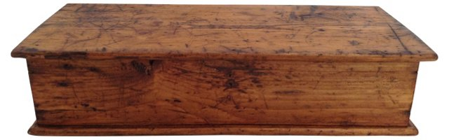 English Pine Work Box