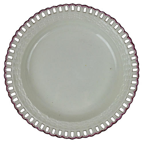 Spode Creamware Plate w/ Feathered Edge