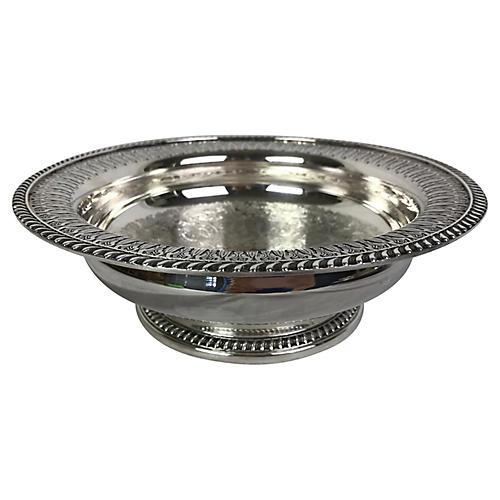 English Barker Ellis Silver-Plate Bowl