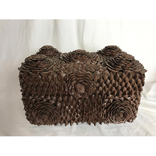 French Pine Cone Tramp Art Box