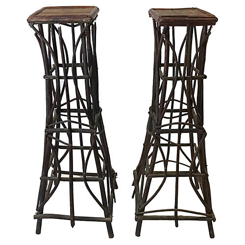 French Plant Stands. Pair