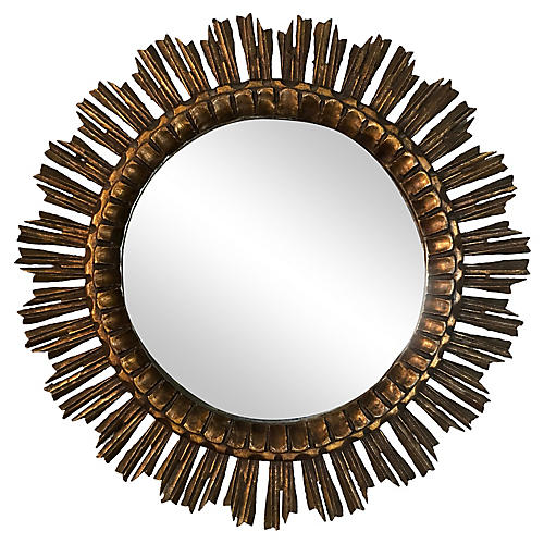 French Giltwood Starburst Mirror