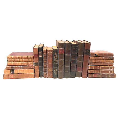 Collection of 23 Leather Bound Books