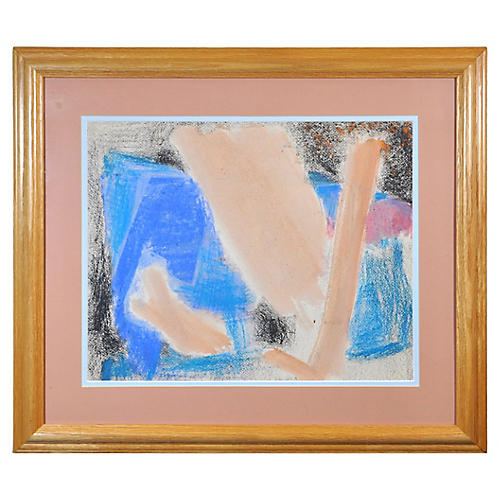 Abstract in Pink and Blue