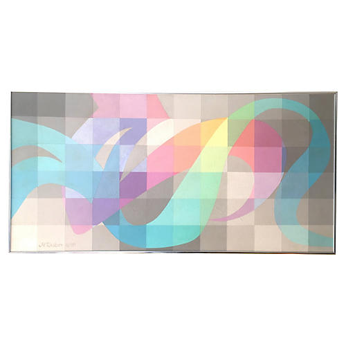 Pastel Abstract by H.S. Dubin