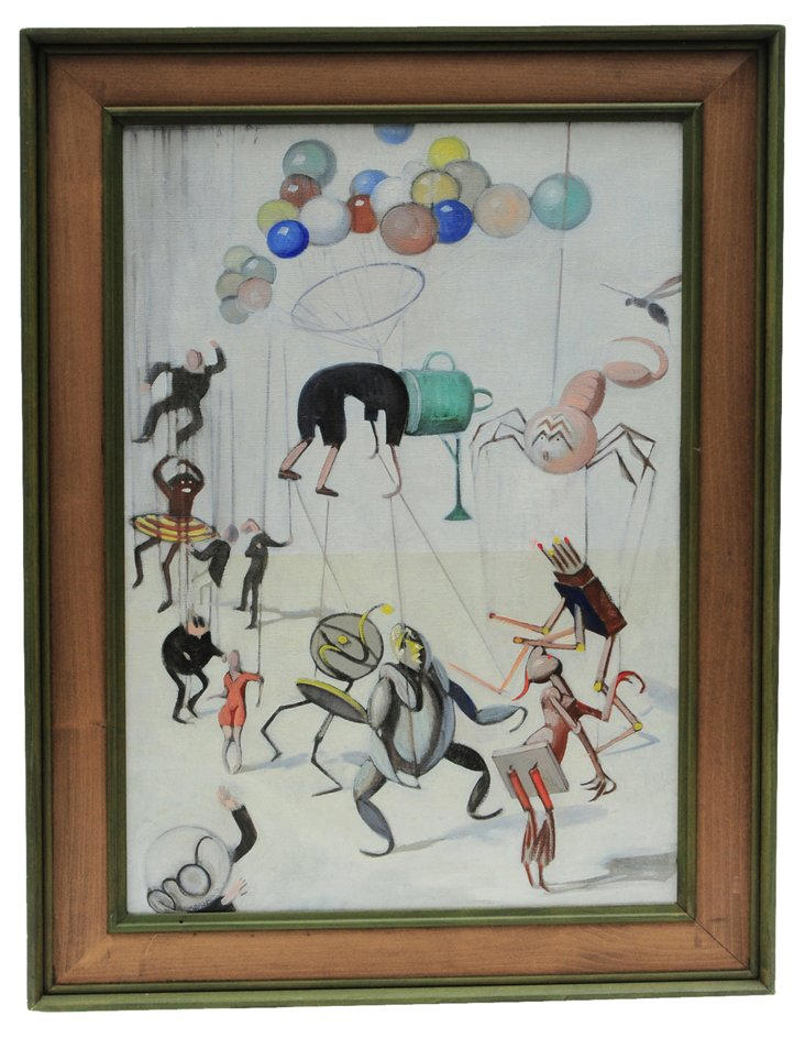 Surrealist Scene by Julius Moessel